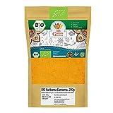 Kurkuma Pulver BIO | Curcuma Kurkumawurzel gemahlen | Gewürzpulver Gelbwurz Turmeric Powder | Herkunft Indien | Organic Bio-zertifiziert DE-ÖKO-039 | 200g