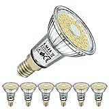EACLL E14 LED Warmweiss 6W Leuchtmittel 2700K 595 Lumen Lampen Ersatz 75W Glühbirnen. Kein Strobe, 120 Grad Lichtwinkel Energiesparlampe Warmweiß licht Tageslichtweiß R50 Reflektorlampen, 6 Pack