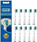 Oral-B Precision Clean Aufsteckbürsten mit Bakterienschutz, 8+2Stück