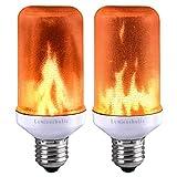 Lumiereholic Flamme E27 Lampe Flackernde Licht Effekt Feuer Glühbirne Wandleuchte Außenleuchte Flackerlicht für Haus Garten Bar Party Hochzeit Restaurant Valentinstag Deko (2 Stücke)