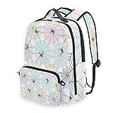 HATESAH Spinnennetz Bunte Netzwerke drucken Abnehmbare Rucksack Schule Computer Tasche reiserucksack zu fuß tragbare ranzen Camping Rucksack für Junge mädchen