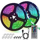 GLIME LED Streifen 6M Led Stripes RGB 5050SMD LED Bänder Lichtband mit 44 Tasten Fernbedienung 6 Modi 20 Farben dimmbar Led Strip für TV Beleuchtung, Schrank, Balkon, Haus Deko 2x3m