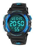 Kinderuhren für Jungen, Outdoor Wasserdicht Digital Uhren Sportuhr mit Wecker/Stoppuhr, Kinder Digitaluhren Armbanduhren für Jugendliche Jungen Geburtstag Blau von RSVOM