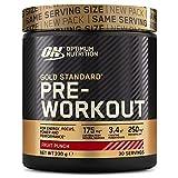 Optimum Nutrition ON Gold Standard Pre Workout, Energy Drink Pulver mit Kreatin Monohydrat, Beta Alanin, Koffein und Vitamin B Komplex, Fruit Punch, 30 Portionen, 330g, Verpackung kann Variieren