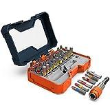 Presch Bit Set Box 32 teilig - Schrauberbit Satz mit vollständigem Bitsortiment und magnetischem Schnellwechsel Bithalter - Bits für Akkuschrauber