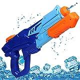 MOZOOSON Wasserpistole Spielzeug für Kinder mit Langer Reichweiter Freezefire für Kinder Mädchen Junge ab 3 Jahr 10 Meter Reichweiter 750ML Blau XXL Eiswürfel Geeignet