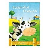Kinder lieben Ausmalen! - Malbuch DIN A4, ab 3 Jahre, Bauernhof mit verschiedenen Tier- und Bauernhofmotiven wie Bauernhaus, Kuh, Schwein, Stall, Traktor, für Jungen und Mädchen