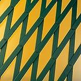 Rankgitter PVC ausziehbar 1,00 x 2 m, grün, 143 x 14 x 1 cm