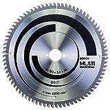 Bosch Professional Zubehör 2608640516 Kreissägeblatt Multi Material 250 x 30 x 3,2 mm, 80