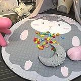 JameStyle26 Kinder Spielmatte Aufräumsack Spieldecke Teppich Kinderzimmer Kinderteppich Matte Teppich (Schaf)