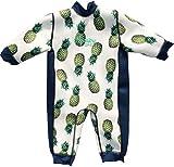 Aquajoy Warmsy Baby-Neoprenanzug, wendbar, 2-in-1-Design, extra warm, für Kleinkinder, Neugeborene und Kinder Gr. 2-3 Jahre, Blaue Ananas