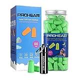 PROHEAR Schaumstoff-Ohrstöpsel 160 Stücke, für Schlafen, Lernen, Schnarchen, Baulärm, Flugzeug, Arbeit, Lernen, Schwimmen, Gehörschutz-Stöpsel (grün)