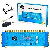 Multischalter pmse 17/8 HB-DIGITAL 4X SAT bis 8 x Teilnehmer / Receiver für Full HDTV 3D 4K UHD mit Netzteil