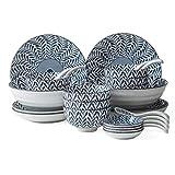 Geschirr-Sets, Keramik-Geschirr, japanisches Geschirr-Set, Mikrowelle, Backofen- und Geschirrspüler-Safe, Küchen-Teller-Set