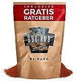 BBQ Rub El Paso 750g | Trockenmarinade für Pulled Pork & Spareribs inkl. Gratis Ratgeber | Gewürzmischung Grillgewürz Barbecue Marinade Grill Gewürz