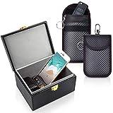 Samfolk Keyless Go Schutz Autoschlüssel Box,Auto Key Faraday Box,Faraday Schlüsseltasche +2 Pack Faraday Tasche