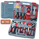 Hi-Spec 120-teilig Hochleistungs-Werkzeugset mit verstellbarem Schraubenschlüssel, Hammer, Bügelsäge, Schraubendreher & Bitsatz & mehr im Aufbewahrungskoffer