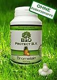 Bromelain 500 mg (2.000 F.I.P.) 120 Kapseln - Vegan ohne Füll- und Zusatzstoffe - 2000 GDU/g - Verdauungsenzym - Bio Protect - Ananas Enzym OHNE ZUSATZSTOFFE!