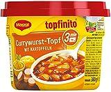 Maggi Topfinito Currywurst-Topf mit Kartoffeln, leckeres Fertiggericht, Wurst- und Kartoffel-Stücke in pikanter Soße, für die Mikrowelle, 1er Pack (1 x 380g)