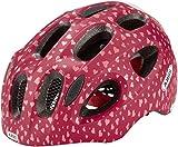 ABUS Youn-I Kinderhelm - Fahrradhelm für Kinder mit LED-Rücklicht für den Alltag - für Mädchen und Jungen - 81818 - Rot mit Herzen, Größe S