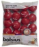 Bolsius 103632053744 Schwimmkerzen, Wachs, Weinrot, 20 Stück