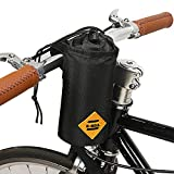 VOANZO Fahrrad-Trinkflaschenhalter-Tasche, isolierte Fahrradtasche mit stabilem dreieckigem Fahrradrahmen und Lenkeraufsatz-Design, für Fahrradzubehör 170 x 80 x 80 mm (Schwarz)