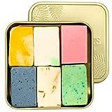 puremetics Zero Waste Testpaket: 6 Seifen Minis + Reisebox gratis | 100% natürlich, vegan & plastikfrei | Naturseife ohne Plastik | festes Duschgel, Shampoo, Gesichtspflege