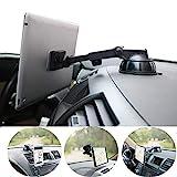 PLDHPRO Handy- und Tablet-Autohalterung magnetisch, Armaturenbrett-Windschutzscheibenhalterung, 360 ° drehbarer, TPU-Saugfunktion klebriges Gel, für iPhone, iPad, Größe 4'- 10' Tablet