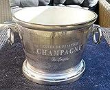 MichaelNoll Champagnerkühler, Weinkühler, Flaschenkühler, Aluminium, Silber, XXL, 38 cm