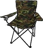 Campingstuhl Faltstuhl Klappstuhl Anglerstuhl Getränkehalter Stuhl Gartenstuhl bis 110 kg Farbe Woodland