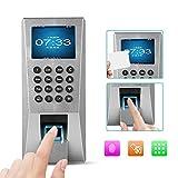 Tosuny Fingerprint Zutrittskontroller,2,4 Zoll TFT Farbdisplay Fingerprint Scanner Türöffner 125 kHz RFID Türzugangskontrollsystem, Haussicherungssystem für Büro,Unternehmen, Bank.