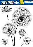 HERMA 15126 Fensterbilder 'Pusteblume', wiederverwendbar, selbstklebende Fenstersticker aus Folie für Kinderzimmer und Fensterdeko, 5 Fensteraufkleber für Kinder