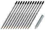 Faber-Castell GRIP 2001 Bleistift HB mit Radierspitze 12 Stück & Dreieckradierer Grip 2001, grau