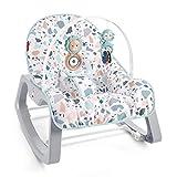 Fisher-Price GWD39 2-in-1 Tragbarer Schaukelsitz für Babys und Kleinkinder bis zu 18kg, Babyausstattung ab Geburt