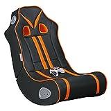 Wohnling® Soundchair Ninja in Schwarz Orange mit Bluetooth   Musiksessel mit eingebauten Lautsprechern   Multimediasessel für Gamer   2.1 Soundsystem - Subwoofer   Music Gaming Sessel Rocker Chair