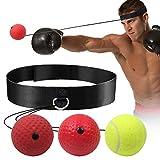 GLKEBY Boxen Training Ball,Boxing reflexball MMA-Geschwindigkeitstraining Geeignet für Erwachsene/Kinder Beste Boxausrüstung für Training, Hand-Augen-Koordination und Fitness