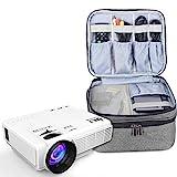 Luxja Beamertasche für Mini Beamer, Projektor Tasche Kompatibel mit APEMAN, QKK, DR.Q und Andere Mini- Beamer und Zubehör, 23 cm x 19 cm x 10 cm, Grau
