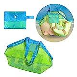 Locisne Große Netz-Strand-Einkaufstasche, Wasser-u. Sand-Weg-Strand-Netz-Beutel-Kinderreise-Tuch-Spielzeug-Organisator-Speicher-Tasche