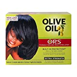 Relaxer / Glättungscreme Organic Root Stimulator Olive Oil Built-In Protection No-Lye Hair Relaxer System Extra Strength