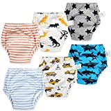 AolsteCell Packung mit 6 Baby Trainerhose Baby Trainingshose Kinder Trainingswäsche Kleinkind Töpfchen Hosen Baby Unterwäsche Wc Trainingswäsche 1 Jahre