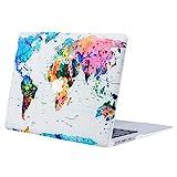 MOSISO Hülle Kompatibel mit MacBook Air 13 - Ultra Slim Plastik Matt Hartschale Case mit Muster Kompatibel mit MacBook Air 13 Zoll (A1369 / A1466, 2010-2017 Version), Weltkarte