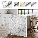 ProHous Möbelaufkleber Klebefolie Mobelfolie 0.61 x 5M Marmor Tapete PVC Marmorfolie Aufkleber Selbstklebende Granit küchenschrank Folie Dekorfolie für Möbel Küche Kommode Schrank (Type D)