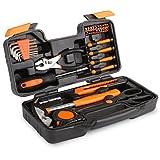 FIXKIT Werkzeugset im Koffer Werkzeugkoffer Werkzeugkasten für den Haushaltsbereich Universal-Haushalts-Werkzeugkoffer (39 teilig)