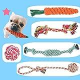BUYGOO 5PCS Hundespielzeug Seil Kauspielzeug - Hunde Spielzeug Seil Interaktive Gesundheit Zähne Reinigung, Baumwolle Pet Kauen Seil Spielzeug für Welpen, Hunde, Katzen Zahnreinigung