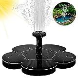 Solar Springbrunnen, otutun Outdoor 1,5W Solar Teichpumpe mit 4 Effekte Solar Wasserpumpe Schwimmender Fontäne Pumpe für Garten, Vogel-Bad, Teich, Fisch-Behälter
