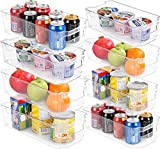 KICHLY (8er-Set) Kühlschrank-Pantry-Organizer - inklusive 8 Organizer 4 große & 4 kleine Schubladen Stapelbare Kühlschrank-Organizer für Gefrierschrank, Küche, Arbeitsplatten, Schränke