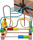Jaques von London motorikschleife Aktivitäten-Spielzeug-Würfel - Qualitäts-Holzspielzeug für 1 2 3-Jährige und Großes Montessori-Kleinkindspielzeug für Mädchen und Jungen Seit 1795