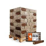 HEIZFUXX Holzbriketts Laubholz Pinikay Quadro Kamin Ofen Brenn Holz Heiz Brikett 10kg x 96 Gebinde 960kg / 1 Palette Paligo