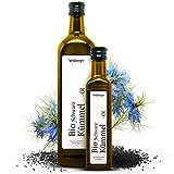 Premium Schwarzkümmelöl Bio von Steinberger   kaltgepresst, gefiltert und 100% naturrein   750 ml Glasflasche   gewonnen aus echtem Schwarzkümmel (Nigella Sativa) aus biologischem Anbau in Ägypten