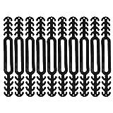 10 Stücke Masken Halterung verstellbare Gesichtsschnallen Ohrschutzschnalle Verlängerungsschnalle zum Entspannen Ihrer Ohren lindern Maskenhaken Maskenband Verlängerungshaken (Schwarz)